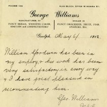 Image of Letter of Recommendation for Wm. Goodwin, 1912