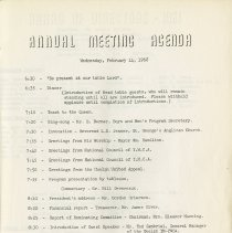 Image of Annual Meeting Agenda, Feb. 14, 1962, p.1