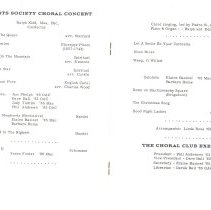 Image of Christmas Choral Concert program, pp.2-3