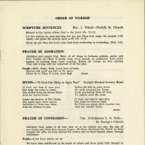 Image of Order of Service, p.1