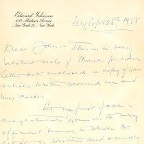Image of .1 - Edward Johnson Letter, 1955, p.1