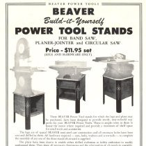 Image of Advertisement for Callander Foundry Power Tool Stands