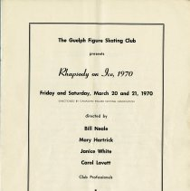 Image of Rhapsody on Ice, March 20 and 21, 1970, p.1