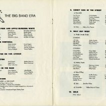 Image of Carnival Program, The Big Band Era, pp.20-21