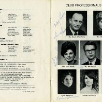 Image of Program; Club Professionals, 1973-74, pp.22-23