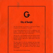 Image of City of Guelph, back cover