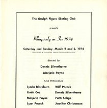 Image of Rhapsody on Ice, March 2 and 3, 1974, p.1