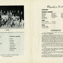 Image of Club Coaches & Assistant Coaches; Carnival Program, pp.14-15