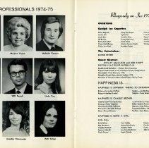 Image of Club Professionals; Carnival Program, 1975, pp.16-17
