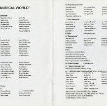 "Image of Program, It's a Musical World,"" pp.24-25"