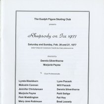 Image of Rhapsody on Ice 1977, February 26th and 27th, p.1