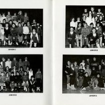 Image of Photos of Classes Junior A, B, and C, pp.8-9