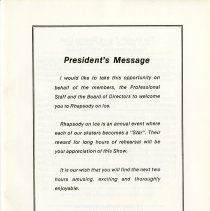 Image of President's Message, p.3