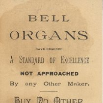 Image of Bell Ad Card - Back