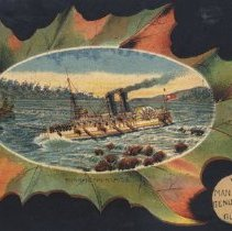 Image of Bell Ad Card with Maple Leaf