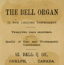 Image of Advertising Card, W. Bell & Co., 1886