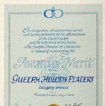 Image of 2001.10.88 - Certificate, Achievement