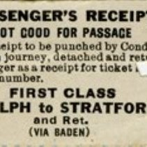 Image of Train Ticket from Guelph to Stratford