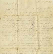 Image of Letter of Proposal to Jane Kendall, March 14, 1840