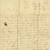 Image of Letter of Proposal to Jane Kendall, January 1835