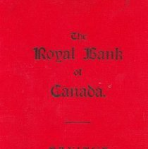 Image of Royal Bank Bank Book