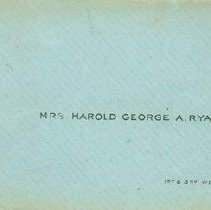 Image of Mrs. Ryan Card Envelope