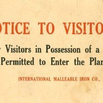 Image of IMICO Visitor Sign