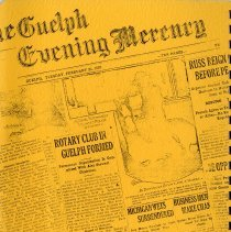 Image of 1920 Newspaper Article, inside Front Cover