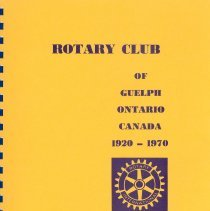 Image of Rotary Club 50 Year Booklet