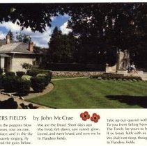 Image of McCrae House&Gardens with poem