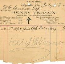 Image of Henry Vernon Receipt