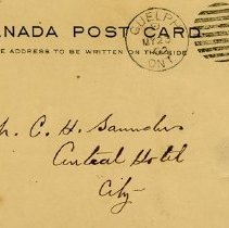 Image of Address on Postcard