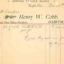 Image of Henry W. Cobb Invoice 1901