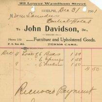 Image of John Davidson Invoice