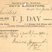Image of T.J. Day Invoice