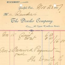 Image of The Dowler Co. Invoice