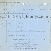 Image of Guelph Light & Power Invoice