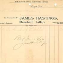 Image of James Hastings Invoice