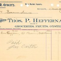 Image of Thos. Heffernan Invoice
