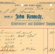 Image of John Kennedy Invoice
