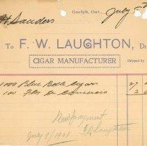 Image of F.W. Laughton Invoice