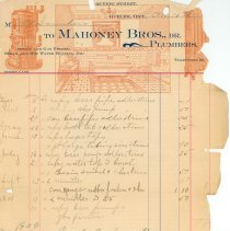 Image of Mahoney Bros. Invoice