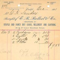 Image of E.R. Bollert & Co. Invoice