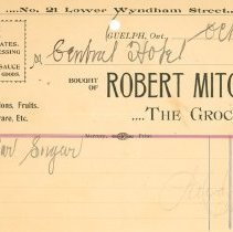 Image of Robert Mitchell Invoice
