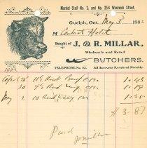 Image of J.R. Millar Invoice
