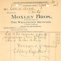 Image of Moxley Bros. Invoice