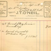 Image of J.T. O'Neil Invoice