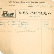 Image of Ed Palmer Invoice