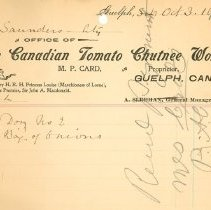 Image of Can. Tomato Chutnee Works 1901