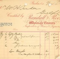 Image of Randall & Roos Invoice